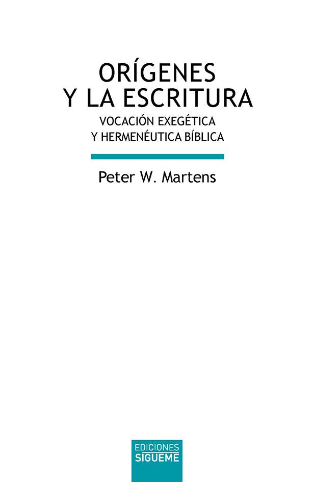Orígenes y la Escritura