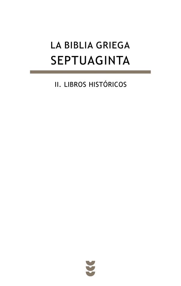 La Biblia griega - Septuaginta, II